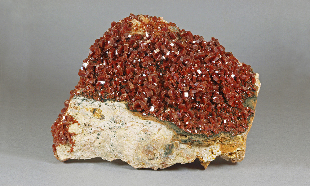 Vanadinite- Mibladen mining district, Morocco