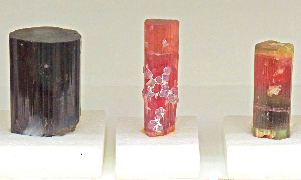 Welsh Hall, tourmaline specimens